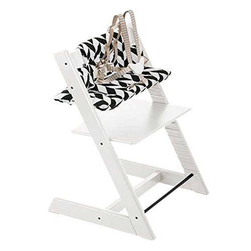 Stokke Tripp Trapp Chair with Black Chevron Cushion Bundle