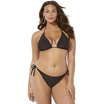 83859f9c48 Swimsuits for All Women s Plus Size Ashley Graham Icon Bikini Set 4 Black