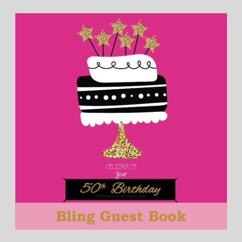50th Birthday Decorations in All Departments: Bling GUEST BOOK Classy Silver Inside Foil Fleur de Lis End Pages 50th Birthday Decorations in Party ... (50th Birthday Guest Books) (Volume 1) (De Lis Fleur Rug)