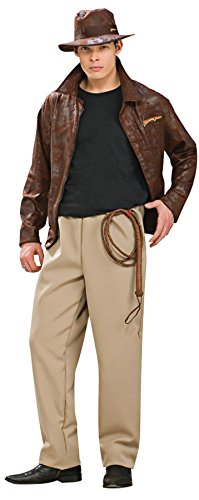 [UHC Men's Deluxe Indiana Jones Theme Party Fancy Dress Costume, XL (44-46)] (Cheap Indiana Jones Costumes)