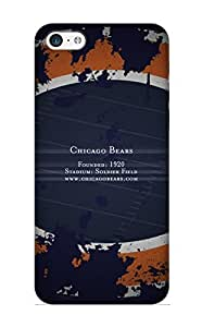 Crooningrose Fashion Protective Chicago Bears Case Cover For Iphone 5c