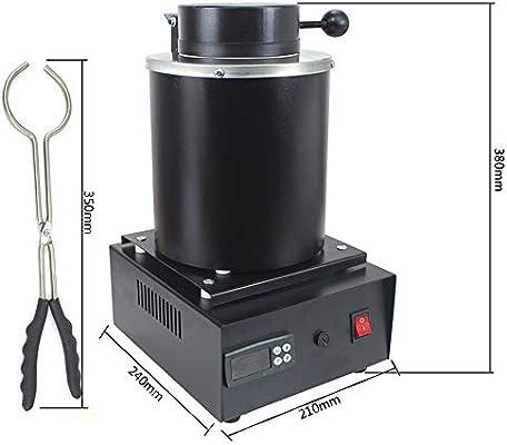horno de fundición, con crisol de grafito 220V 1600W Horno para la ...