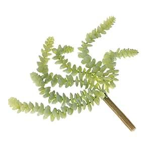 MagiDeal - Planta artificial con diseño de flores de perforata, color verde, verde claro, 27cm