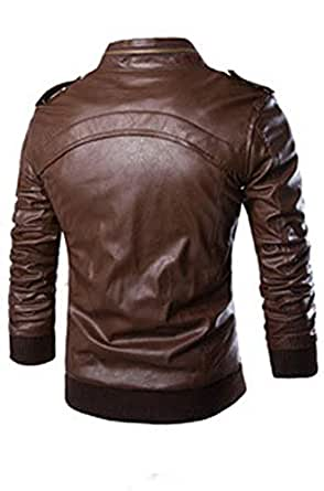 Brown Polyester Leather For Men