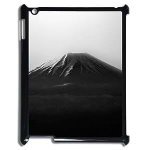 3D IPad 2,3,4 2D Case, Fuji Dark Mountain Anti-Slip Case for IPad 2,3,4 2D {Black}