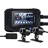 "Blueskysea DV688 Motorcycle Dash Cam 1080p Dual Lens Motorcycle Recording Camera 2.35"" LCD"