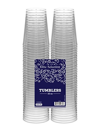 Elite Selection 10 Oz. Pack Of 100 Clear Hard Plastic Tumblers/Cups