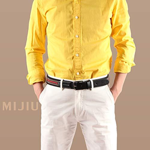 Tessuto Elastico Uomo Regalo Per Di Desiderio 6 Pantaloni Confezione Cinture Fibbia Stripe Multicolore Casual wq8nUp