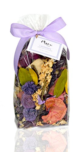 Manu Home Spring Lavender Potpourri Bag ~ 10oz Bag with Beautiful Botanicals & Pods ~ perfect Home Decor for any time of the year~ Proudly Hand Made in USA
