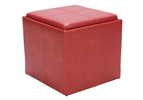 1PerfectChoice Organizer Kids Cube Storage Ottoman Footstools Poufs PU  Leather
