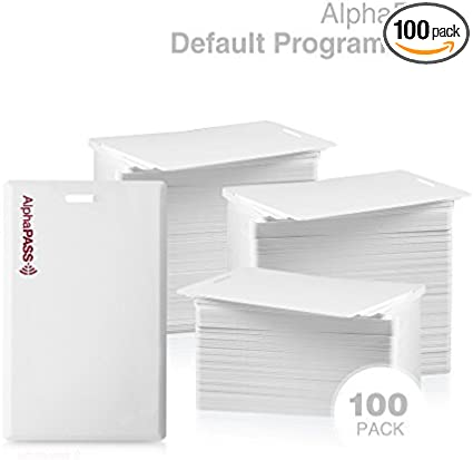 Standard 26 bit H10301 Format. IDCart PVC Proximity Card Replaces HID 1386 ISOProx II Cards 100 Pack