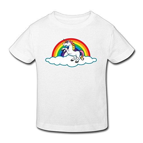 (KissKid Unicorn Rainbow Kids Short Sleeve Tshirt 4 Toddler)