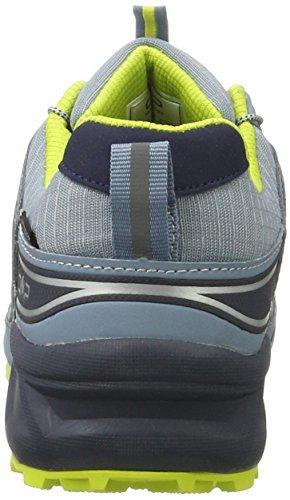C.P.M. Super X, Zapatillas de Running para Asfalto para Hombre Gris (Acciaio-b.blue-lime)