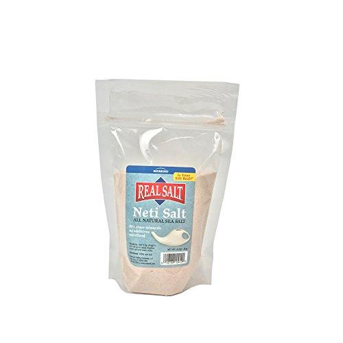 Redmond - Neti Pot Real Sea Salt, Organic Natural Unrefined Gluten Free, 10oz Pouch ()