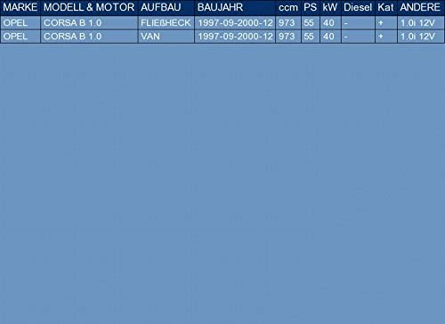 ETS-EXHAUST 51227 Silencieux arriere le kit dassemblage complet pour CORSA B 1.0 BERLINE 3//5 PORTES VAN 55hp 1997-2000