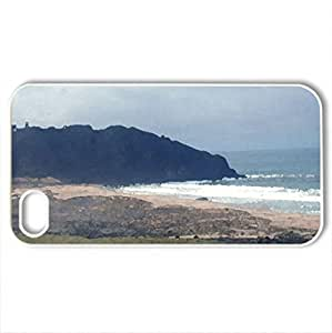 beautiful huge rock on a beach - for iPhone 4 and 4s (Beaches Series, Watercolor style, White)