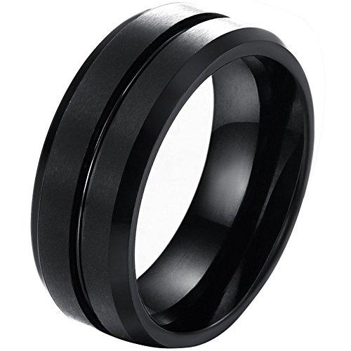 JewelryWe Wolframcarbid Herren-Ring