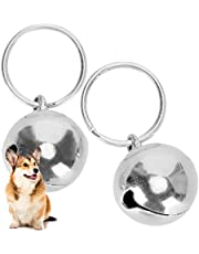 Crisp Sound Round Charm Extra Loud Pair of Cat & Dog Brass Portable Bells Collar Charm Bells for Save Birds & Wildlife(silver)