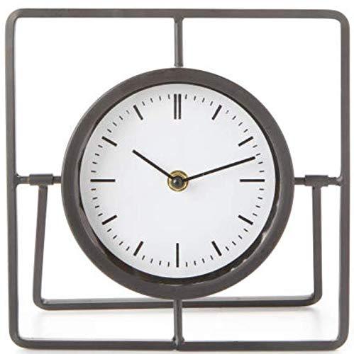 Calm Effects Black Modern Square Metal Clock