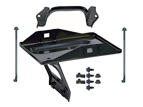 New 1963-65 Ford Falcon 24F Battery Tray Kit with Bracket Hold Down Mounting Clamp (EBC3AZ-10764BKT)