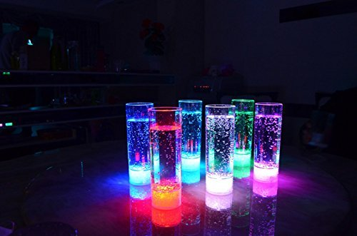YOOYOO 7 Colors Highlight LED Flashing Juice Glass 400ML LED Drink Cup for Party