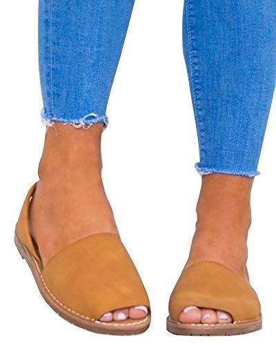 Marron Grande de Plate Minetom 01 Mode Femme Bouche Élégant Daim Sandales Tongs Flip Flops Taille Été Plage Poissons Romaines Chaussures wgwAnxBa