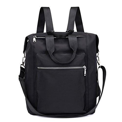 Mynos Backpack Women Casual Shoulder Bag Multifunction Waterproof Travel Rucksack Purse and Handbag (Black) by Mynos