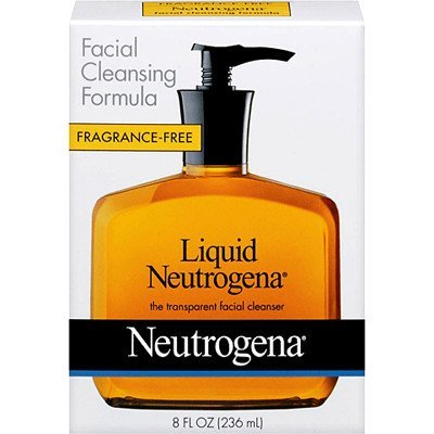 Neutrogena Fragrance Free Liquid Neutrogena, Facial Cleansing Formula, 8 oz Pump Bottles (Pack of 4)