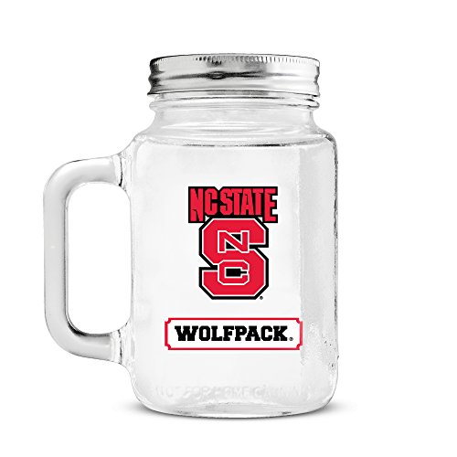 NCAA North Carolina State Wolfpack 20oz Glass Mason - Wolfpack Glass