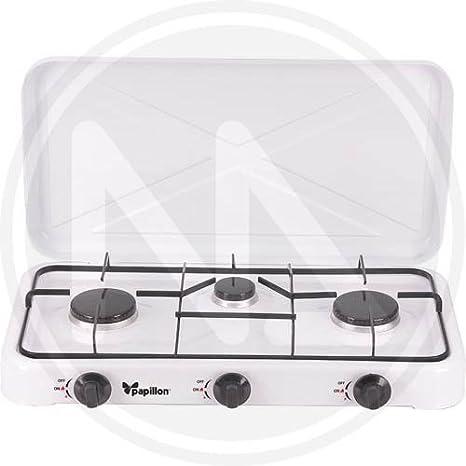 PAPILLON 8140210 Cocina Gas 3 Fuegos, Multi, 60x33x8 cm