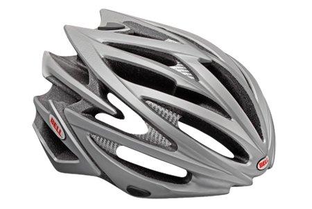 """Bell Volt Racing Bicycle Helmet Matte Titanium Medium (55 - 59cm / 21.75 - 23.25"""")"""