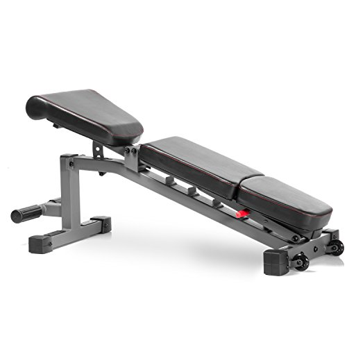 Xmark commercial flat incline decline weight bench 1500 lb capacity 7 back pad adjustments - Weight bench incline decline ...