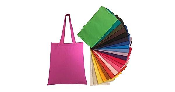 Amazon.com: Bolsa de lona de algodón natural para ...