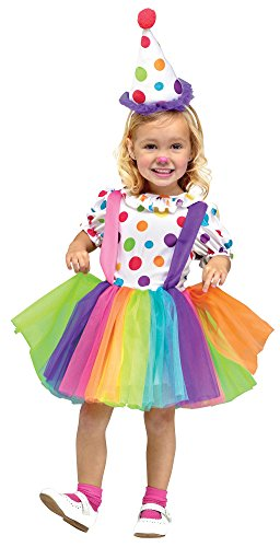 Fun World Costumes Baby Girl's Big Top Fun Toddler Costume, White, Large ()