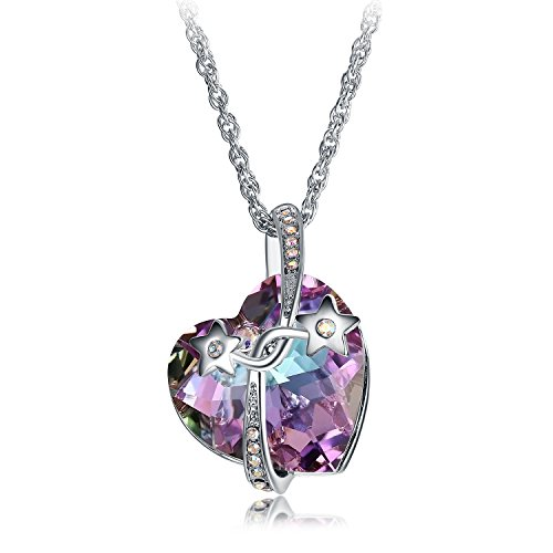 gem crystal heart necklace - 7