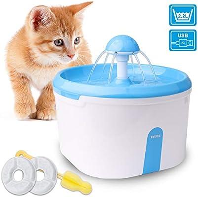 WOWGO Fuente de Agua automática para Gatos, Dispensador de Agua ...