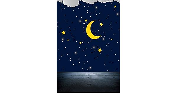 Ooozkken 10X10ft Snow Moon Background Bright Theme Newborn Photo Studio Photography