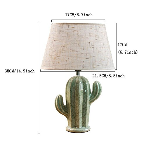 Cactus Lamp Table Lamp Home Decoration Cactus Decor Simple Design Desk Lamp for Living Room Bedroom,with Bulb by Dengbaba (Image #1)