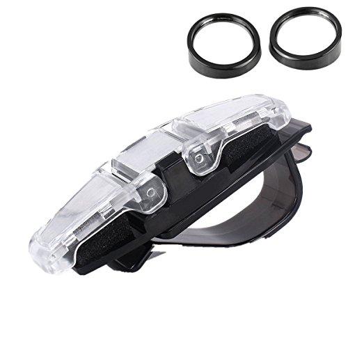 Sunglasses Holder for Car - Sun Visor and 2 Blind Spot Mirrors Car Interior - Clip On Sunglasses Holder