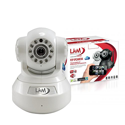 TALLA Interno. LKM Security LKM-IPCIN01WH IP Camera de Interno y Externo Inalámbrico, Color Blanco