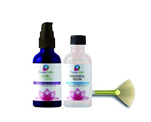 Intense Repair 40% Lactic Acid Peel Kit with Hyaluronic Acid and Retinol Serum and Fan Brush – Unbuffered Professional Grade Review