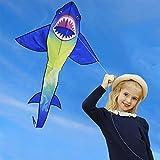 HONBO Huge Shark Kites for Kids & Adults, Easy to