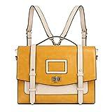 ECOSUSI Ladies Faux Leather Briefcase Shoulder Laptop Messenger Bags Satchel Bag Cambridge Backpack...
