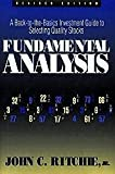Fundamental Analysis, John C. Ritchie, 1557380341