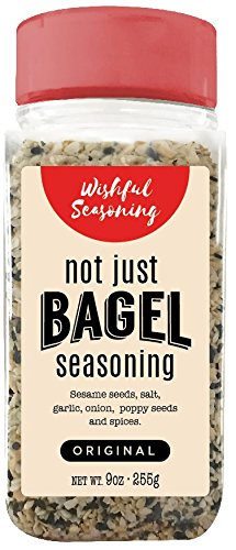 Everything Bagel Seasoning Blend XL 9 Ounce Jar - All Natural Keto Paleo All Purpose Seasoning - By Wishful