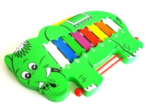 Elephant Design Toy Musical Xylophone Glockenspiel + Beaters 1to1Music GrElepV