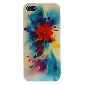 Babe Supply Flower Ink Painting Feature Protective Case for iPhone 5/5S