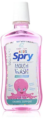 Spry Kid's Alcohol-Free Xylitol Mouthwash, Natural Bubble Gum - 16 fl oz