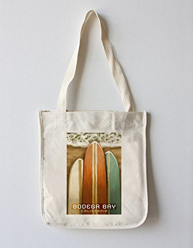 Bodega Bay, California - Surfboards - Oil Painting (100% Cotton Tote Bag - Reusable)