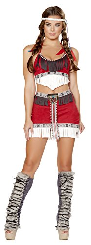 [Native American Tribal Temptress Complete Costume Medium] (Temptress Indian Costumes)